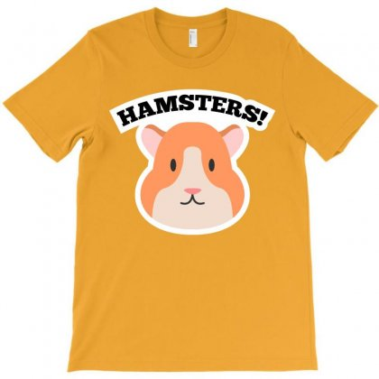 Lovely Hamsters Cartoon T-shirt T-shirt Designed By Tudtoojung
