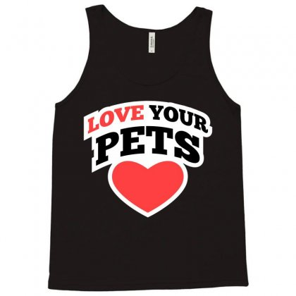 Love Your Pets Cartoon T-shirt Tank Top Designed By Tudtoojung