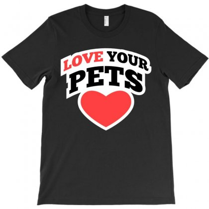 Love Your Pets Cartoon T-shirt T-shirt Designed By Tudtoojung