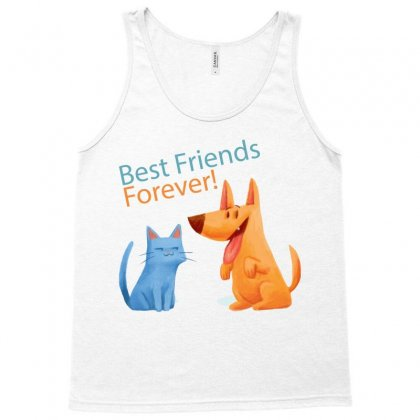 Dog And Cat  Friends Forever Cartoon T-shirt Tank Top Designed By Tudtoojung