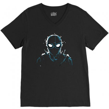 Spiderman King Of Night V-neck Tee Designed By Teesclouds