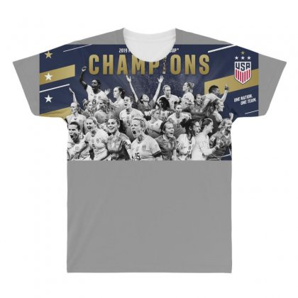 Women's World Cup Champions 2019 All Over Men's T-shirt Designed By Anrora