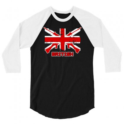 British Flag 3/4 Sleeve Shirt Designed By Satrio Art