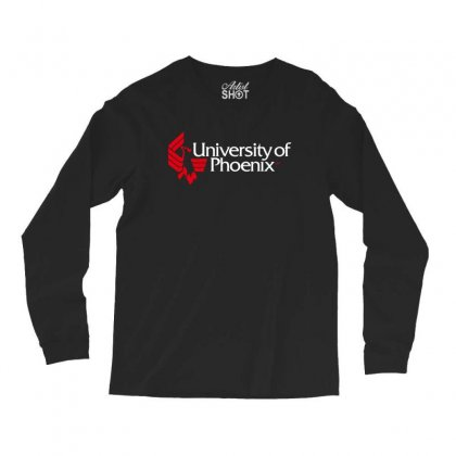 University Of Phoenix   White Red Long Sleeve Shirts Designed By Balqis Tees