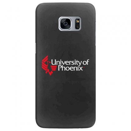 University Of Phoenix   White Red Samsung Galaxy S7 Edge Case Designed By Balqis Tees