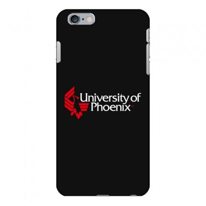 University Of Phoenix   White Red Iphone 6 Plus/6s Plus Case Designed By Balqis Tees