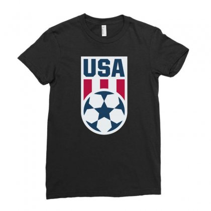 Stars And Stripes Ladies Fitted T-shirt Designed By Cahyorin
