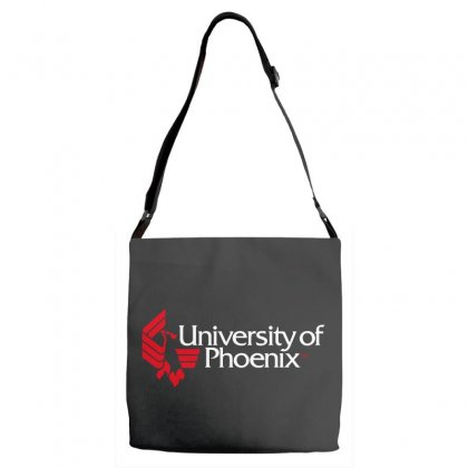 University Of Phoenix   White Red Adjustable Strap Totes Designed By Balqis Tees