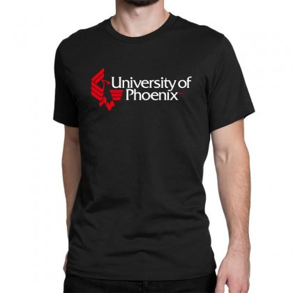 University Of Phoenix   White Red Classic T-shirt Designed By Balqis Tees