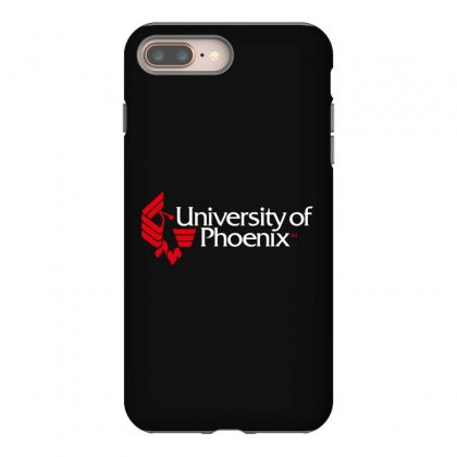 University Of Phoenix   White Red Iphone 8 Plus Case Designed By Balqis Tees