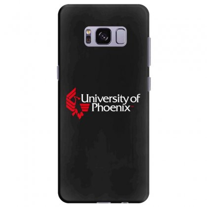 University Of Phoenix   White Red Samsung Galaxy S8 Plus Case Designed By Balqis Tees