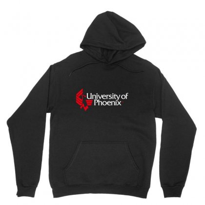 University Of Phoenix   White Red Unisex Hoodie Designed By Balqis Tees