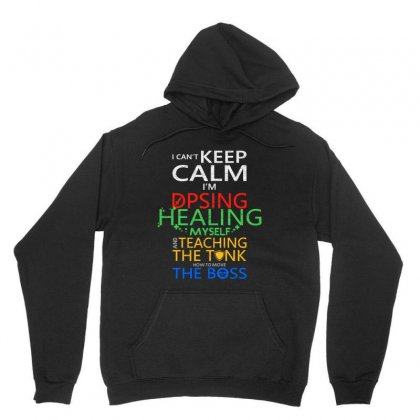 World Of Warcraft I Can't Keep Calm I'm Dpsing Unisex Hoodie Designed By Balqis Tees