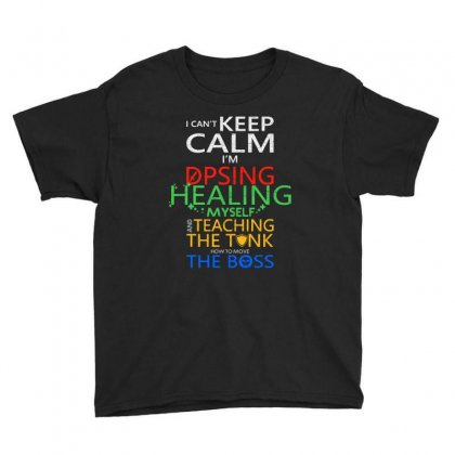 World Of Warcraft I Can't Keep Calm I'm Dpsing Youth Tee Designed By Balqis Tees