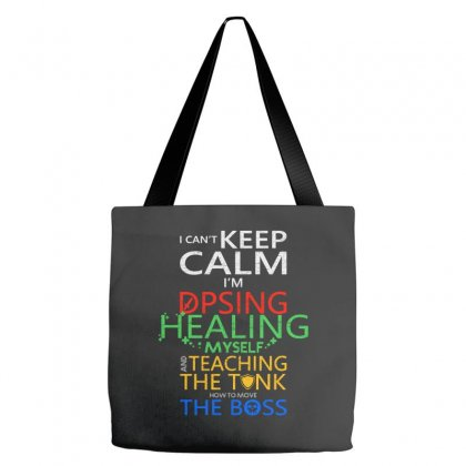 World Of Warcraft I Can't Keep Calm I'm Dpsing Tote Bags Designed By Balqis Tees