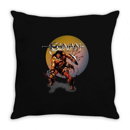 Conan The Barbarian Throw Pillow Designed By Allison Serenity