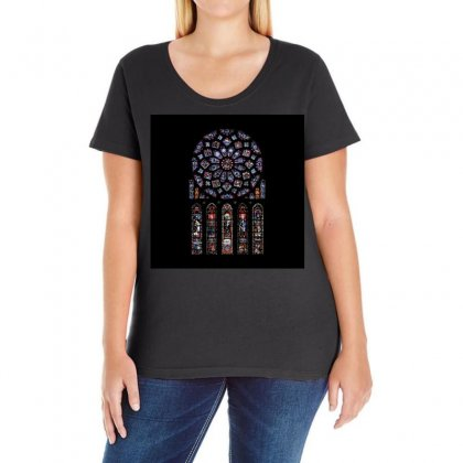 Rosette Cathedral Ladies Curvy T-shirt Designed By Salmanaz