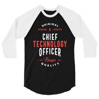 Chief Technology Officer 3/4 Sleeve Shirt Designed By Cidolopez