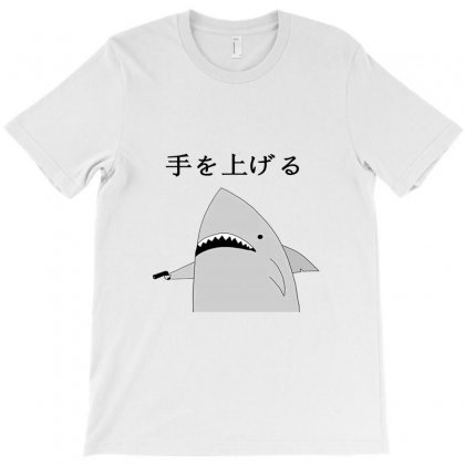 Japanese Fish Hold Up T-shirt Designed By Titis