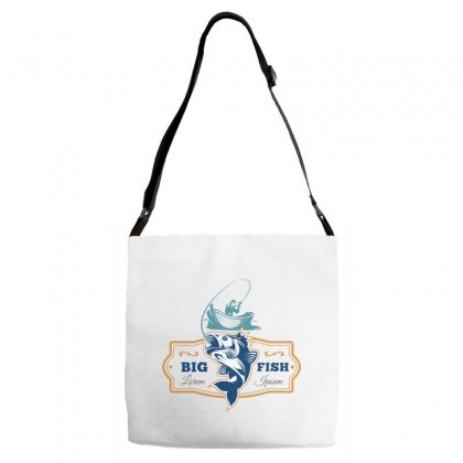 Big Fish Vector Adjustable Strap Totes Designed By Zhannaart