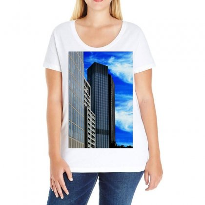 Architecture Frankfurt Houses Ladies Curvy T-shirt Designed By Salmanaz
