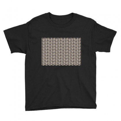 Coffee Beans Pattern Illustrator Youth Tee Designed By Salmanaz
