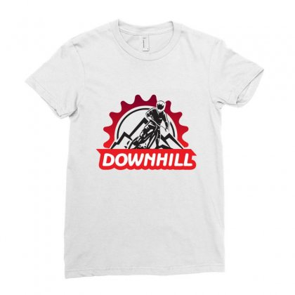 Downhill Ladies Fitted T-shirt Designed By Rardesign