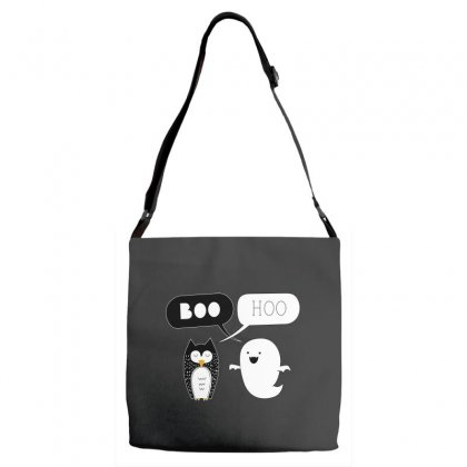 Preach Boo Hoo Owl And Ghostie Adjustable Strap Totes Designed By Leodrolic