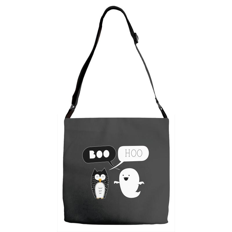Preach Boo Hoo Owl And Ghostie Adjustable Strap Totes | Artistshot