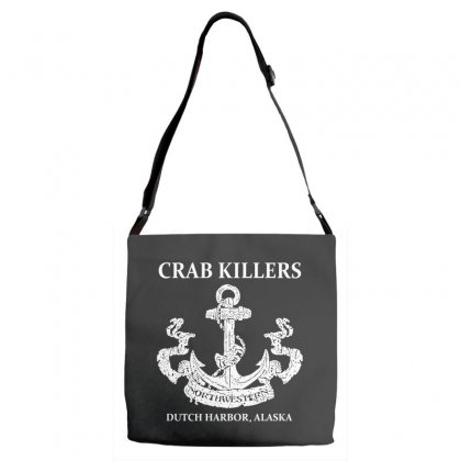 Northwestern Crab Adjustable Strap Totes Designed By Leodrolic