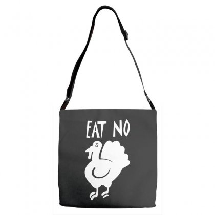 Eat No Chiken Adjustable Strap Totes Designed By Leodrolic