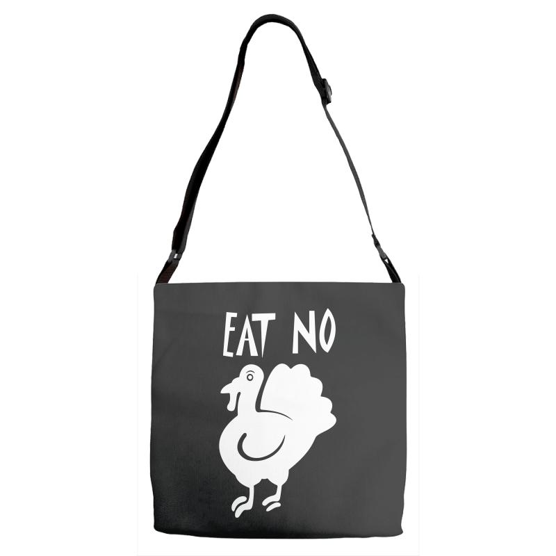 Eat No Chiken Adjustable Strap Totes | Artistshot