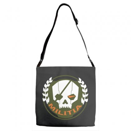 Militia Skull Adjustable Strap Totes Designed By Leodrolic