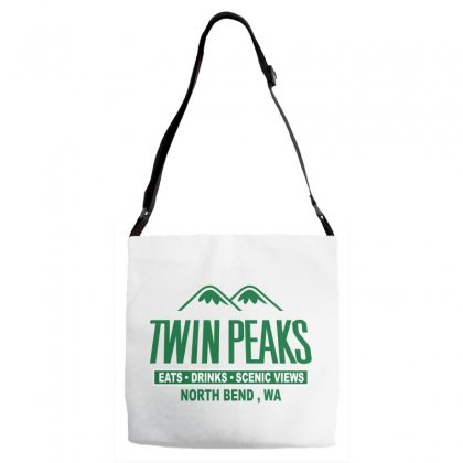 Twin Peaks Mountains Adjustable Strap Totes Designed By Leodrolic