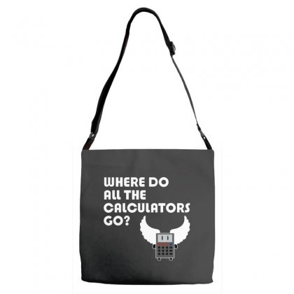 Where Do All The Calculators Go Adjustable Strap Totes Designed By Leodrolic