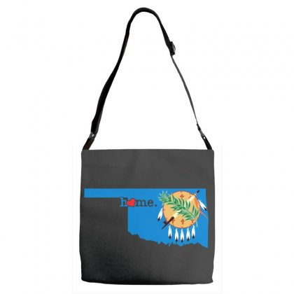Oklahoma Sweet Home Adjustable Strap Totes Designed By Leodrolic
