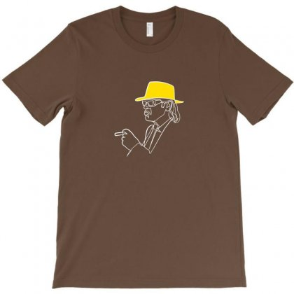 Rock Musician One Line Illustration T-shirt Designed By Arum