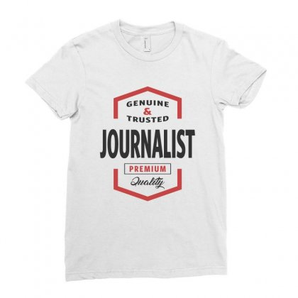 Journalist Ladies Fitted T-shirt Designed By Chris Ceconello