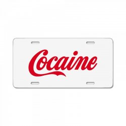 cocaine funny License Plate | Artistshot