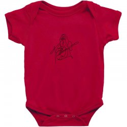rock musician one line illustration Baby Bodysuit | Artistshot