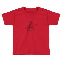 rock musician one line illustration Toddler T-shirt | Artistshot