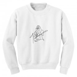 rock musician one line illustration Youth Sweatshirt | Artistshot