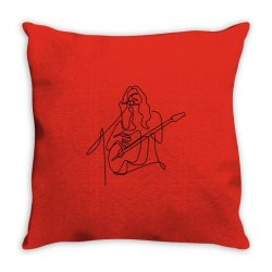 rock musician one line illustration Throw Pillow | Artistshot