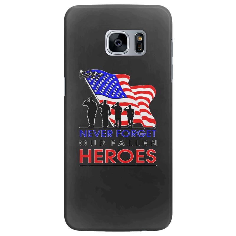 Never Forget Our Fallen Heroes Memorial Day Samsung Galaxy S7 Edge Case | Artistshot