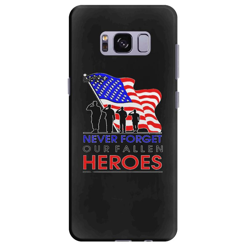 Never Forget Our Fallen Heroes Memorial Day Samsung Galaxy S8 Plus Case | Artistshot