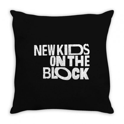 New Kids Shirt On The Block Throw Pillow Designed By Allison Serenity