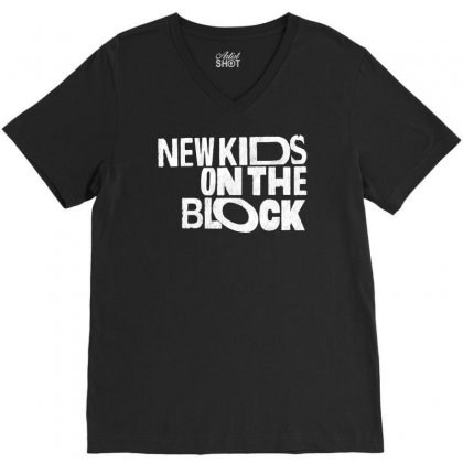 New Kids Shirt On The Block V-neck Tee Designed By Allison Serenity