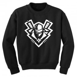 ninja white Youth Sweatshirt | Artistshot