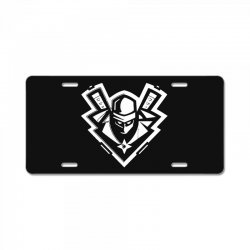 ninja white License Plate | Artistshot