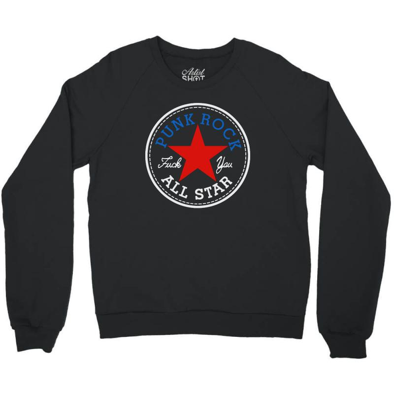 Punk Rock All Star For Dark Crewneck Sweatshirt | Artistshot